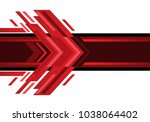 abstract red arrow technology... | Shutterstock .eps vector #1038064402
