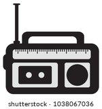 flat radio sign | Shutterstock .eps vector #1038067036