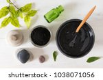 homemade facial mask and scrub... | Shutterstock . vector #1038071056