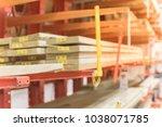 blurred close up lumber... | Shutterstock . vector #1038071785