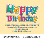 vector greeting card happy... | Shutterstock .eps vector #1038073876