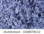 crumpled foil as an abstract... | Shutterstock . vector #1038078112