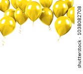yellow baloons on the upsteirs... | Shutterstock . vector #1038082708
