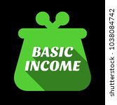 basic income. message... | Shutterstock .eps vector #1038084742