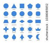 set of basic geometric shapes. | Shutterstock .eps vector #1038085852