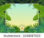 summer background banner with... | Shutterstock .eps vector #1038087025