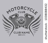 motorcycle club vector | Shutterstock .eps vector #1038088432