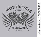 motorcycle club vector | Shutterstock .eps vector #1038088432