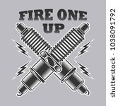 fire one up vector | Shutterstock .eps vector #1038091792