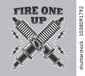fire one up vector | Shutterstock .eps vector #1038091792