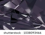 bright black abstract... | Shutterstock .eps vector #1038093466
