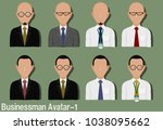 businessman avatar with... | Shutterstock .eps vector #1038095662