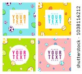 happy easter cards set with... | Shutterstock .eps vector #1038116212