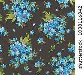 beautiful elegance forget me... | Shutterstock .eps vector #1038116842
