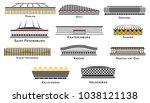 football stadium set on white... | Shutterstock .eps vector #1038121138