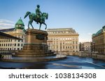 equestrian statue of archduke... | Shutterstock . vector #1038134308