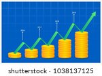 financial growth chart template | Shutterstock .eps vector #1038137125