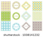vintage frames and matching...   Shutterstock .eps vector #1038141232