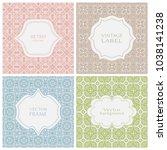 vintage frames set in pastel...   Shutterstock .eps vector #1038141238