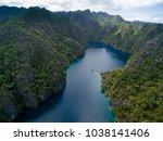 kayangan lake in coron  palawan ... | Shutterstock . vector #1038141406