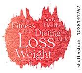 vector conceptual weight loss... | Shutterstock .eps vector #1038144262
