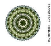 flower mandala. vintage...   Shutterstock .eps vector #1038153016