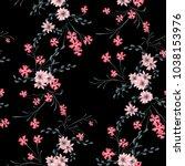 little floral seamless pattern... | Shutterstock .eps vector #1038153976