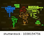 typography colorful world map... | Shutterstock .eps vector #1038154756