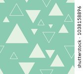 seamless turquoise triangles... | Shutterstock .eps vector #1038158896