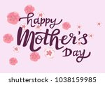 happy mothers day text as... | Shutterstock .eps vector #1038159985