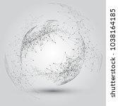 global network connection world ...   Shutterstock .eps vector #1038164185