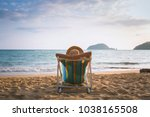 summer beach vacation concept ... | Shutterstock . vector #1038165508