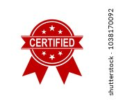 certified medal icon. approved... | Shutterstock .eps vector #1038170092