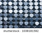 abstract metal background and... | Shutterstock . vector #1038181582