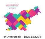 map of slovenia   modern... | Shutterstock .eps vector #1038182236