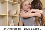 happy little girl smiling and... | Shutterstock . vector #1038183562