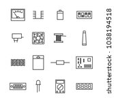 set of various electronic and... | Shutterstock .eps vector #1038194518