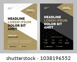 brochure layout template  cover ... | Shutterstock .eps vector #1038196552