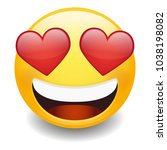 love expression emoji smiley... | Shutterstock .eps vector #1038198082