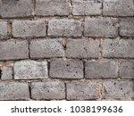 old concrete brick wall... | Shutterstock . vector #1038199636