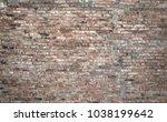 old vintage brick wall texture | Shutterstock . vector #1038199642