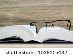 book   a writing document  a... | Shutterstock . vector #1038205432