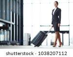 happy young elegant woman in...   Shutterstock . vector #1038207112