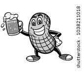 peanut and beer illustration  ...   Shutterstock .eps vector #1038211018