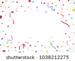 colorful confetti  for... | Shutterstock .eps vector #1038212275