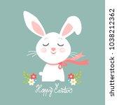 easter bunny  easter greeting... | Shutterstock .eps vector #1038212362
