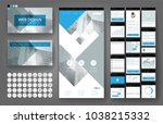 website template  one page... | Shutterstock .eps vector #1038215332