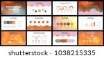business presentation templates.... | Shutterstock .eps vector #1038215335