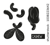 Cashew. Black Silhouette On...