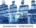 businessmen that work together... | Shutterstock . vector #1038226456